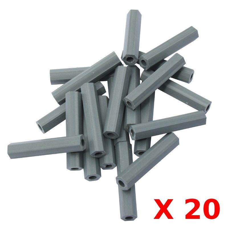 Entretoise Hexa PVC 25.4mm