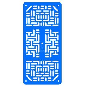 Plaque robotique - Etroit - Bleu Clair