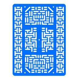 Plaque robotique - Large - Bleu Clair