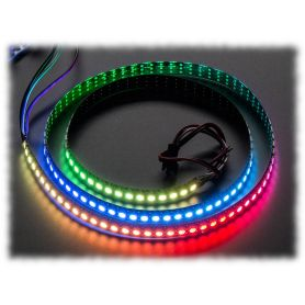 [T] - Ruban LED RGB NeoPixel - 144 LEDs par 1m (Noir, STRIP)