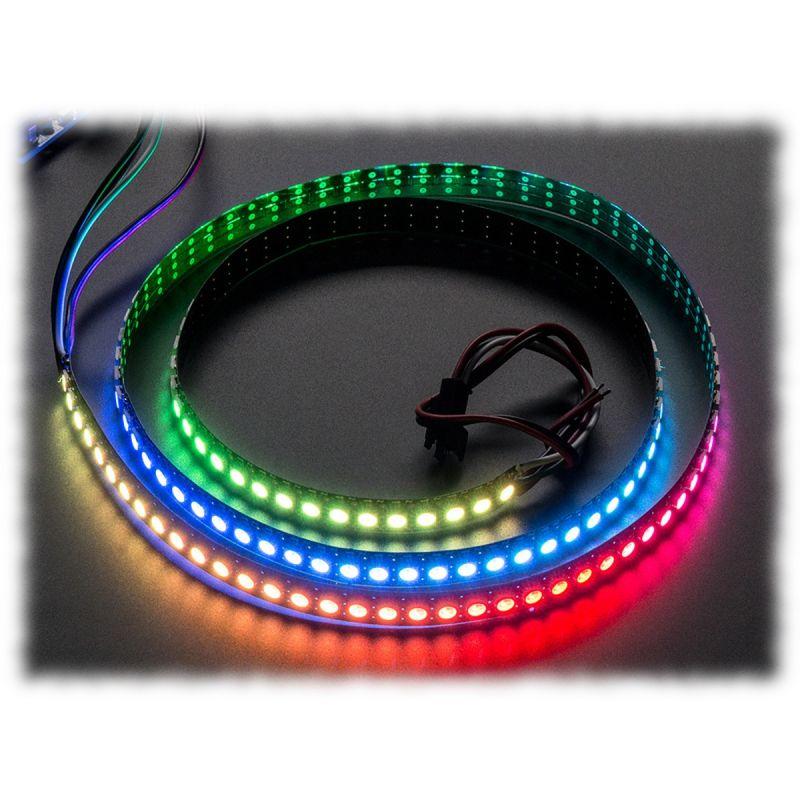 ▷ NeoPixel RGB Led strip - 144 LEDs per 1m (STRIP, BLACK) - MCHobby
