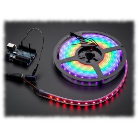 Ruban LED RGB NeoPixel - 60 LEDs par 1m (Noir, STRIP)