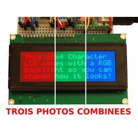 LCD 20x4 + EXTRA. RGB, négatif.