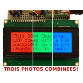 LCD 20x4 + EXTRA. RGB, Positif.