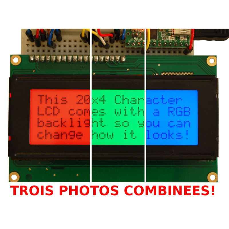 LCD 20x4 RGB négatif