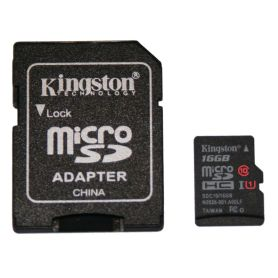 Carte SD/microSD 16Go CLASS 10, UHS 1