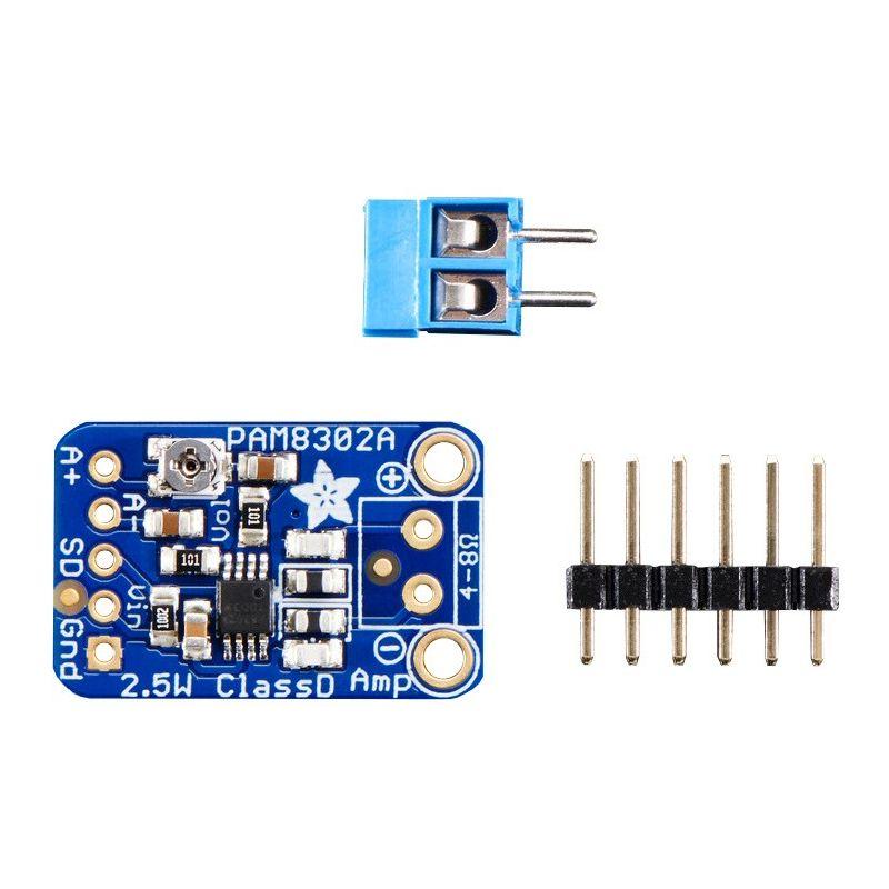 ▷ 2 5W Audio Amplifier - Mono - Class D - PAM8302 - MCHobby
