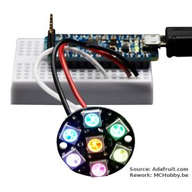 [T] - Joyau NeoPixel - 7 LEDs