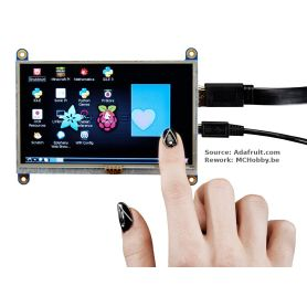 HDMI TOUCH display for Raspberry-PI - 800x480 - 5""