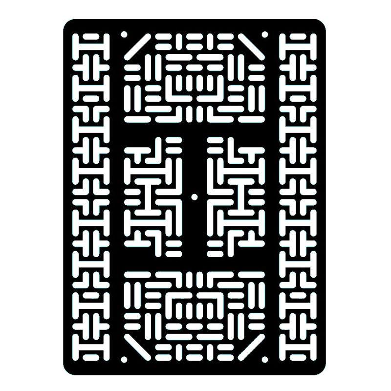 Plaque robotique - Large - Noir