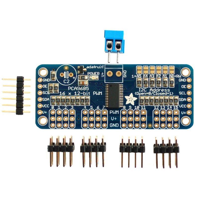 Adafruit Controleur PWM Servo 16 canaux 12 bits - I2C interface - PCA9685