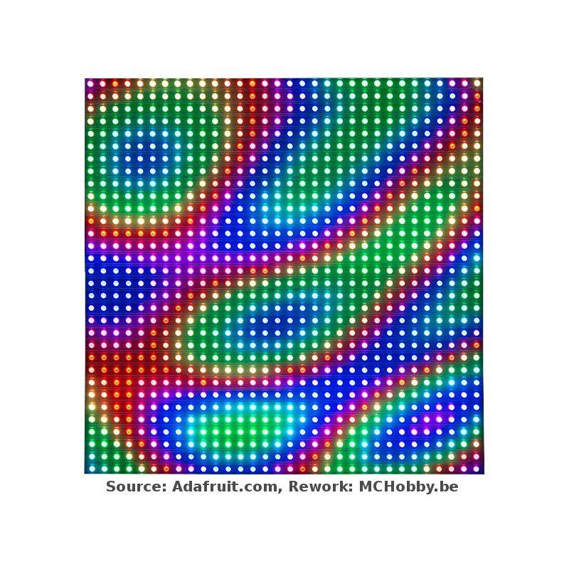 ▷ Matrice LED RGB - 32x32 - empattement 6mm - MCHobby - Vente de