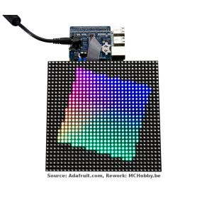 RGB Matrix HAT + RTC for Raspberry-Pi