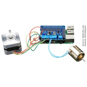 Motor Hat for Raspberry-Pi (DC motor and stepper)