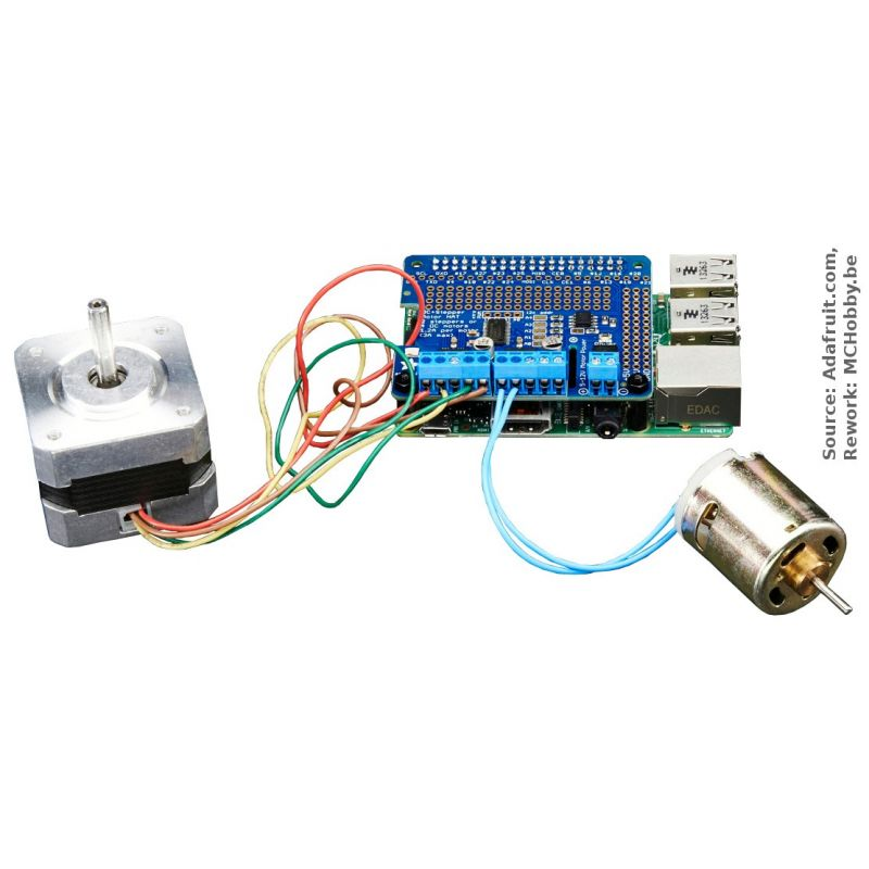 ▷ Motor Hat for Raspberry-Pi (DC motor and stepper