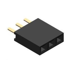 Female connector 1x3 pins