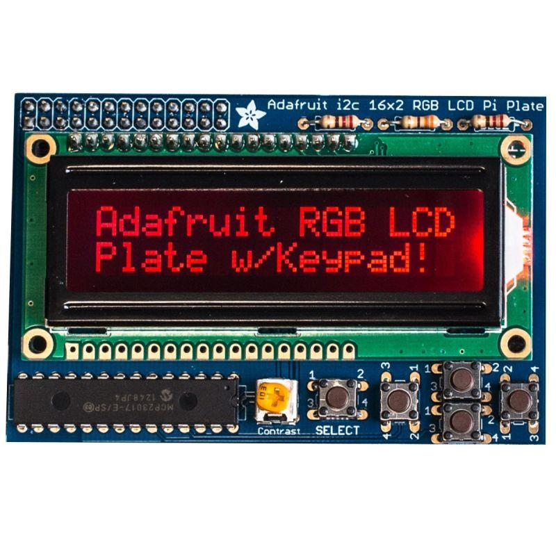 Shield LCD RGB pour Pi - AFFICHAGE POSITIF + Keypad