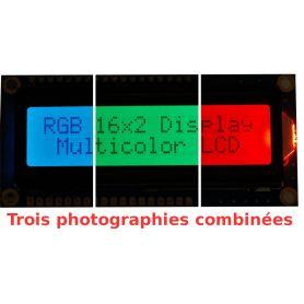 [T] - LCD 16x2 RGB Positif + EXTRA.