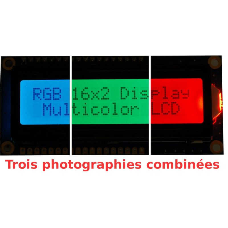 LCD 16x2 RGB Positif + EXTRA.