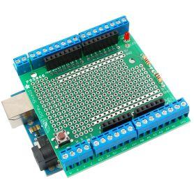 [T] - Shield de prototypage AVEC BORNIER pour Arduino