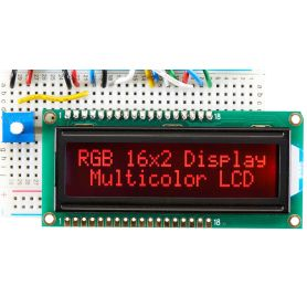 [T] - LCD 16x2 RGB Negatif + EXTRA.