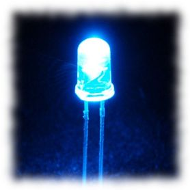 25 LEDs Super Brillantes BLEUES