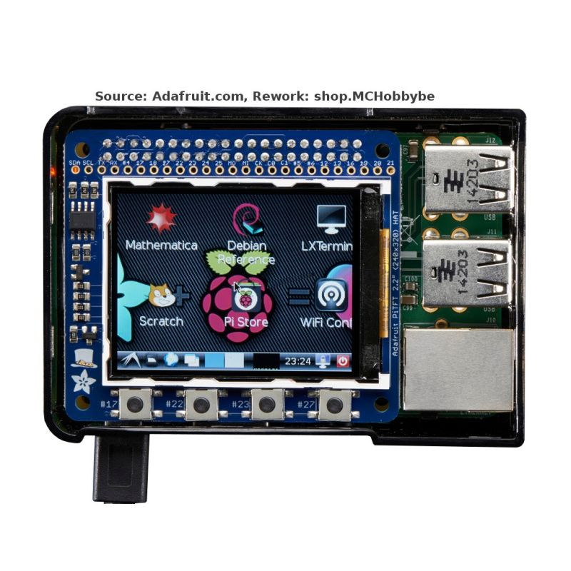"PiTFT Mini 320x240 2.2"" (no touch) for Raspberry Pi"