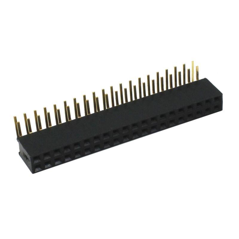 Connecteur femelle 2x20 à angle droit pour Raspberry Pi 2, Pi 0 & B+