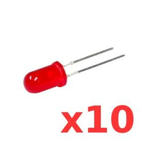10 LEDs ROUGES Super Brillantes