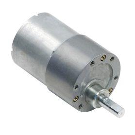 [T] -  Moteur 12V 19:1 - Axe 6mm D - 37D - engrenage métal