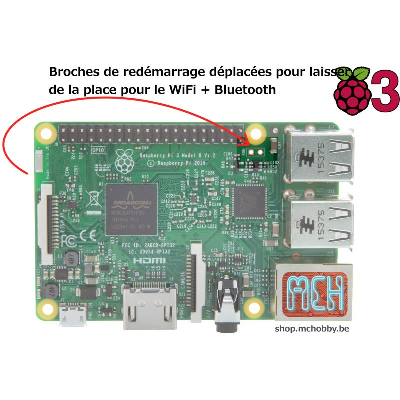 ▷ [T] - Raspberry Pi 3 !! DE STOCK !! - MCHobby - Vente de