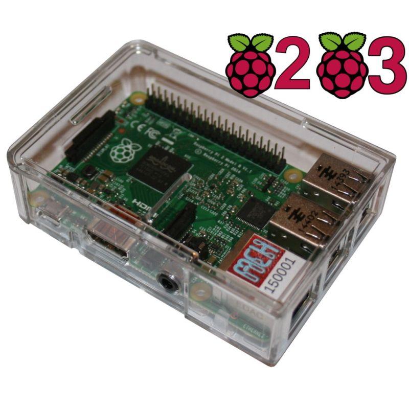 Boitier Raspberry Pi PLUS - Crystal