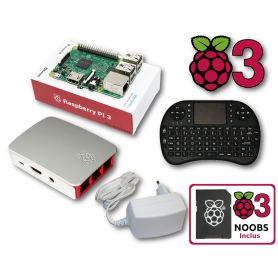 Kit Mediacenter Raspberry Pi 3 Multimedia Pack (Pi 3 incl)