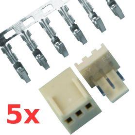 Kit Conn.  mâle+femelle - 2.54mm - 3 pôles