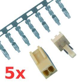 Kit Conn.  mâle+femelle - 2.54mm - 2 pôles