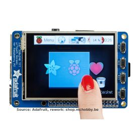"TFT display 2.8"" for Raspberry-Pi (PiTFT plus, assembled)"