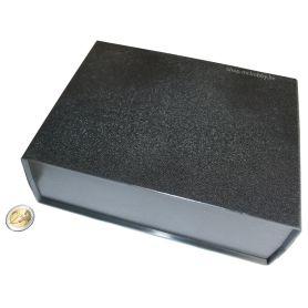 [T] - Boîtier Plastique Noir 200 x 160 x 65mm