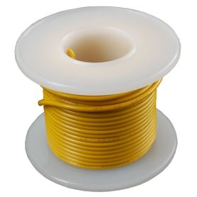 Solid-core YELLOW wire spool - 7.50m