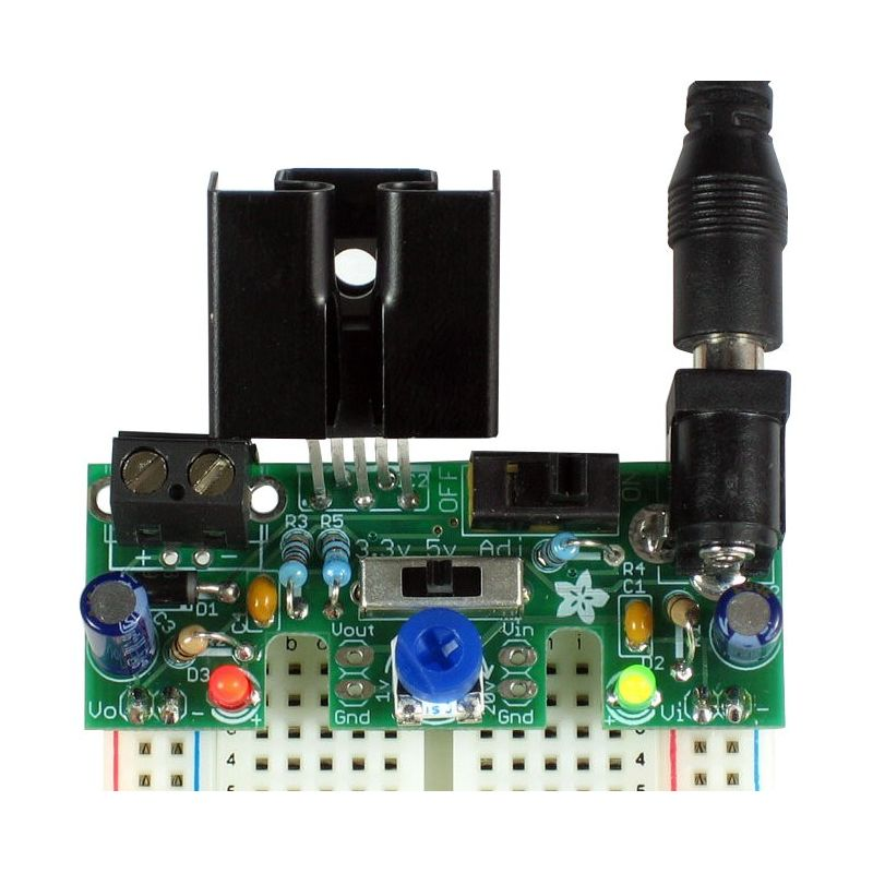 Alimentation REGLABLE pour Breadboard - 1.25 Amp - Low DropOut