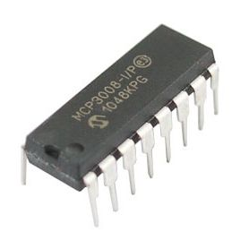MCP3008 - 8 channels ADC converter