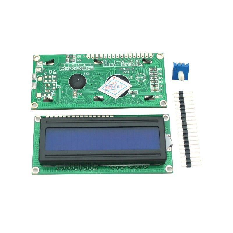 LCD 16x2 + EXTRA. Blanc sur Bleu