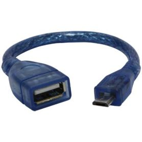 USB 2.0 OTG cable - USB A Host to microB USB