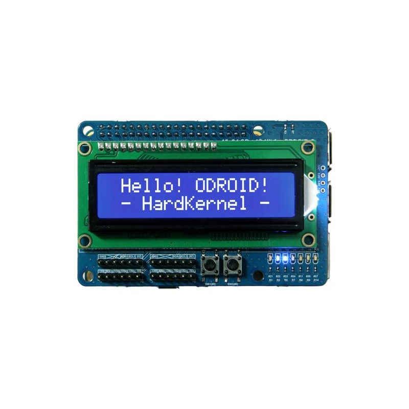 I/O + LCD 16x2 shield for ODroid C2 et C1+