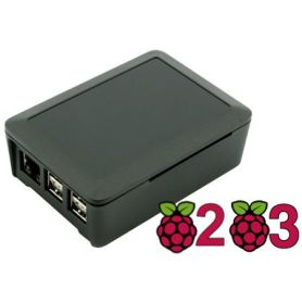 SQCase case for Pi 3, Pi 3B+, Pi 2 black