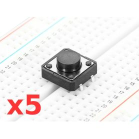 5 x Bouton tactile large (12mm)