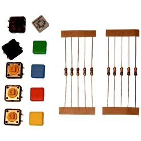 Square colored tact switch (mini kit)