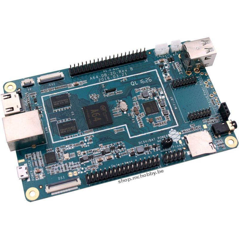 Pine64+ - 2Gb - 64 Bits Nano computer