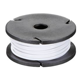 Solid-core WHITE wire spool - 7.50m