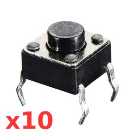 10 x Bouton tactile normal (6mm)