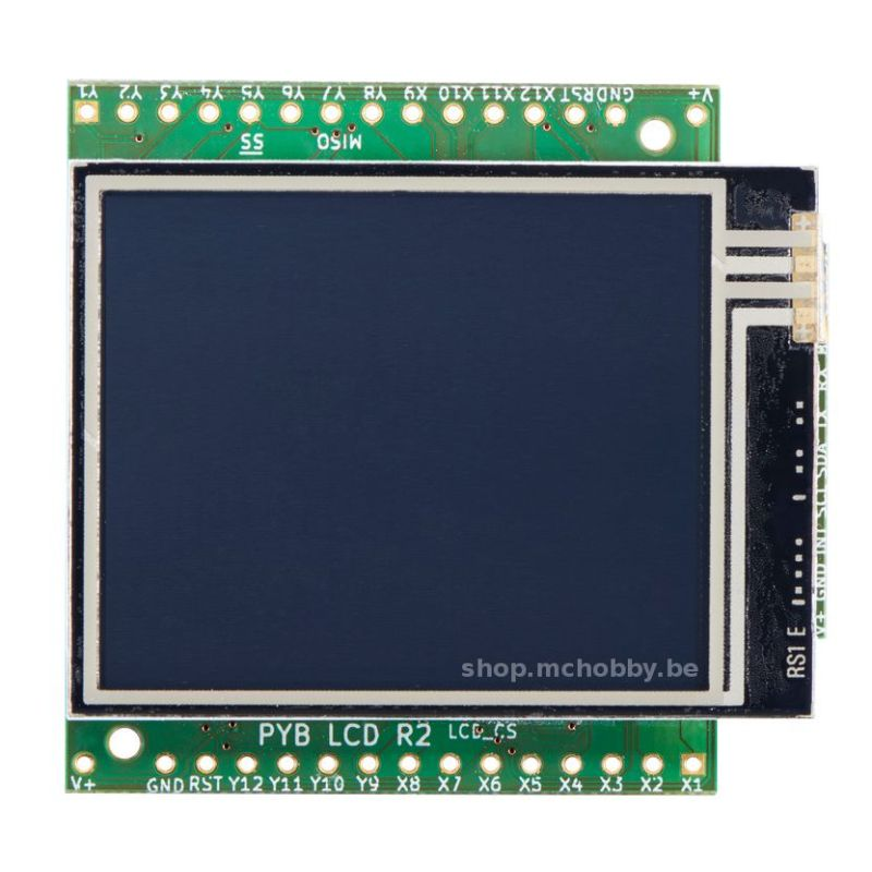 Ecran LCD tactile couleur pour MicroPython PyBoard